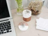 color blocked desk accessories