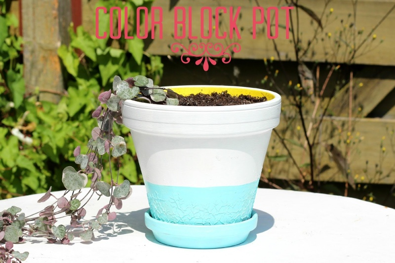 color blocked planter