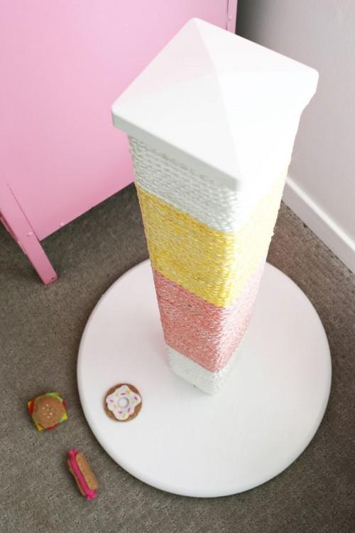 Trendy DIY Color Blocked Cat Scratcher