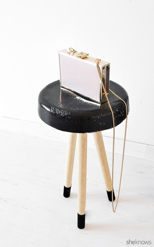 Picture Of trendy diy concrete stool in black  1
