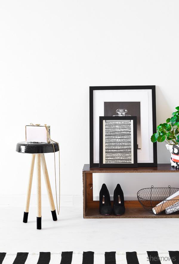 Picture Of trendy diy concrete stool in black  3