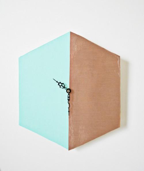 Trendy DIY Copper Blocked Clock