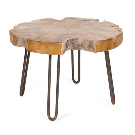 rustic stool with haipin legs (via upcycledtreasures)