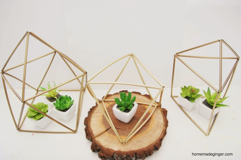 geometric planter hanger