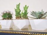 geometric dip bowl planters