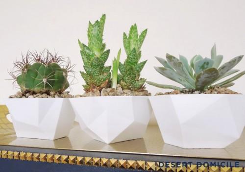 geometric dip bowl planters (via desertdomicile)