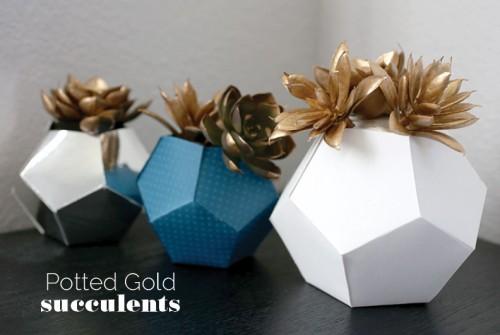 cardboard geo planter (via domesticslice)
