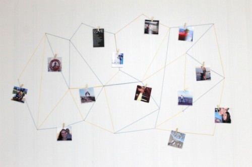 Trendy DIY Geometric Wall Display
