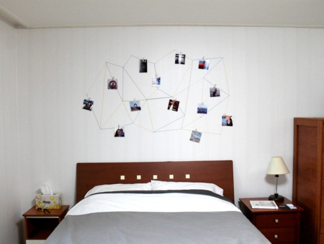 Picture Of trendy diy geometric wall display 6