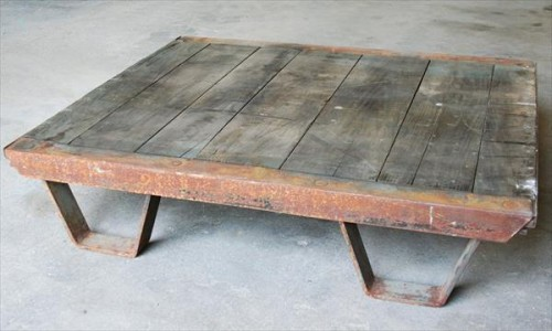 industrial pallet coffee table (via palletfurnitureplans)