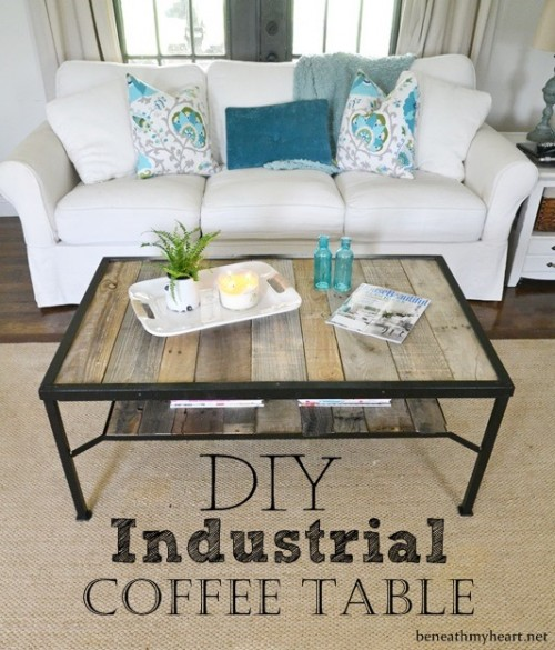 industrial coffee table (via beneathmyheart)