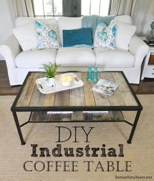 Cost Plus Industrial Coffee Table: 8 Trendy DIY Industrial Coffee Tables