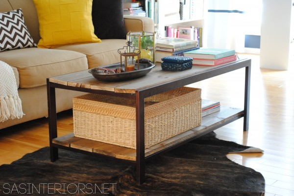 modern to industrial coffee table