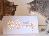 marquee cat sign
