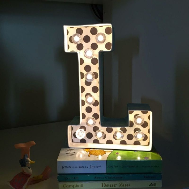 marquee letter night light