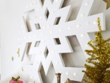 giant snowflake marquee