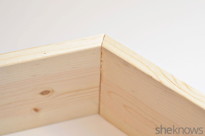 Picture Of trendy diy stained hexagon shelves  2