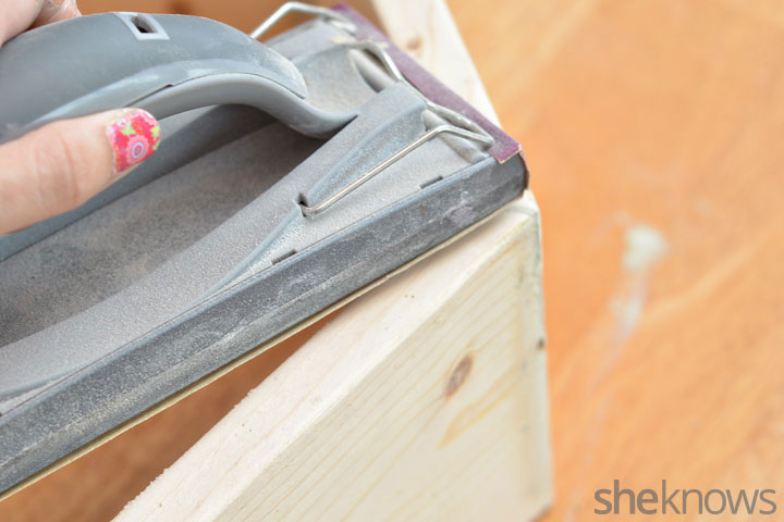 Picture Of trendy diy stained hexagon shelves  4