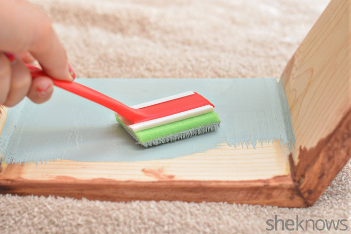 Picture Of trendy diy stained hexagon shelves  5