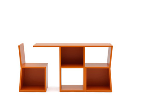 Trick Bookcase Dining Set