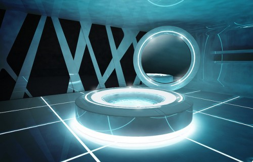 Tron Inspired Bathroom