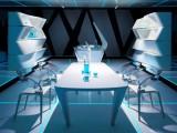 Tron Inspired Futuristic Interiors