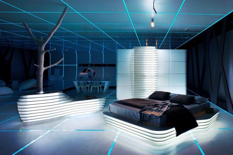 tron inspired futuristic interiors shelterness