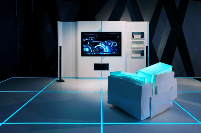 Picture Of Tron Inspired Futuristic Interiors