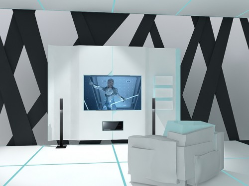 Tron Inspired Home Theatre