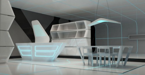TRON Inspired Interior Designs
