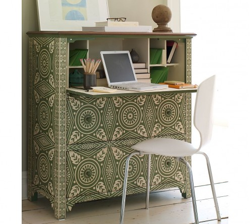 Turn Cabinet Into A Mini Home Office