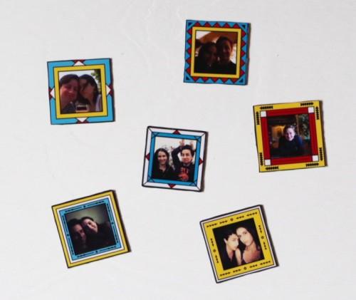 framed photo magnets (via plasteranddisaster)