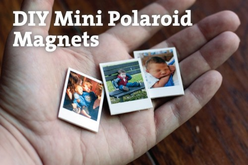 mini Polaroid photo magnets (via mamasaywhat)