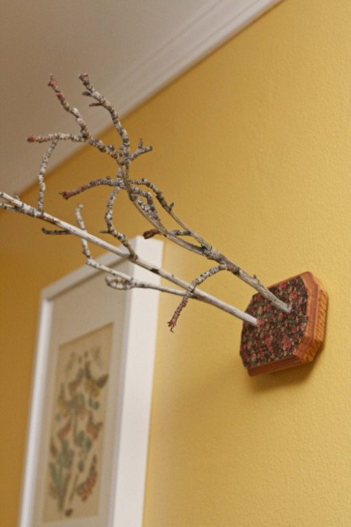 Twigs Wall Art As A Spring Interior Decoration