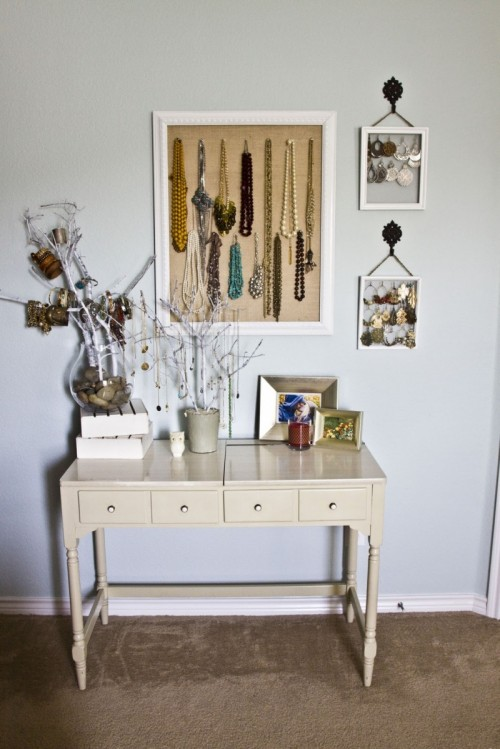 How to make an ultimate jewelry storage and display - Ideas for storing jewellery ...