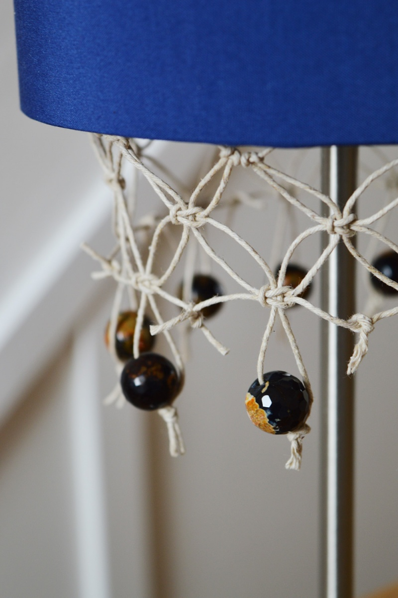 Picture Of unique diy fringed lampshade with gemstones  1