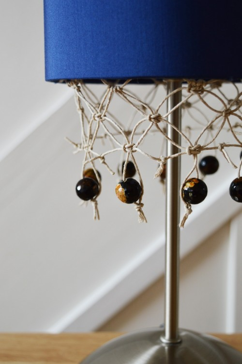Unique DIY Fringed Lampshade With Gemstones