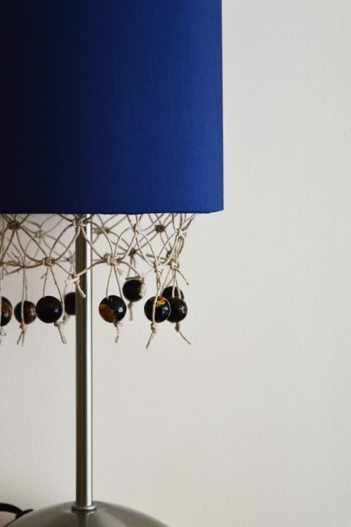Unique DIY Fringed Lampshade With Gemstones