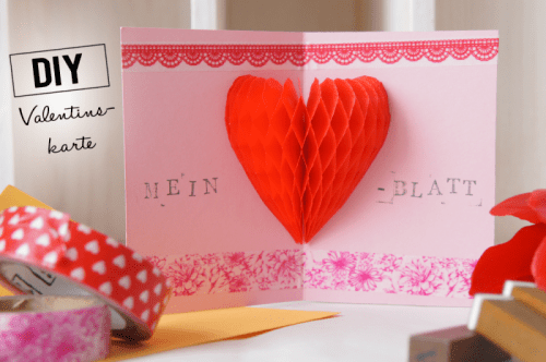 15 Unique DIY Valentine Cards Youll Love Shelterness – 3d Valentine Cards