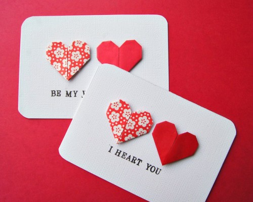origami heart cards (via omiyageblogs)