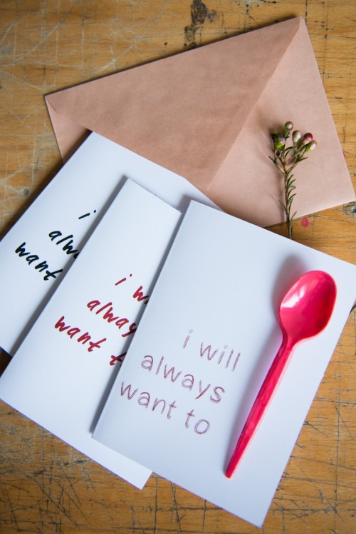 Valentine Spoon Card (via Kittenhood)