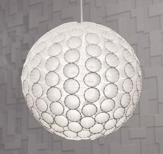 Unusual DIY Lamp Of Paper Cups