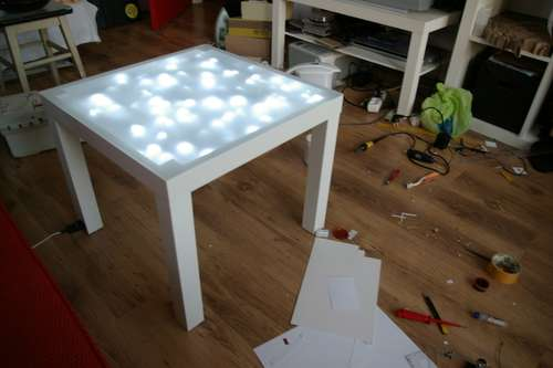 Upgrade Ikea Lack Table With Built In Lights