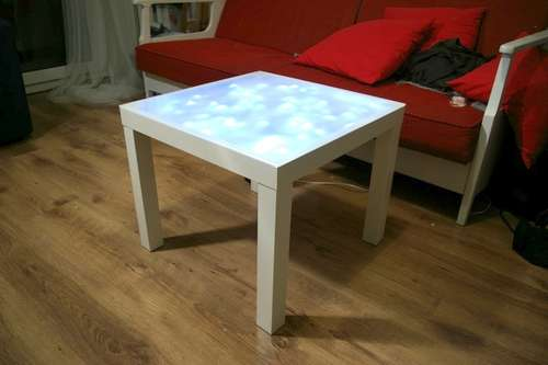 How To Upgrade Ikea Lack Table With Built In Lights