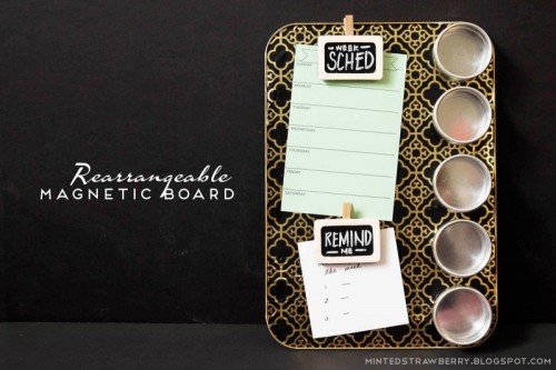rearrangeable magnetic board (via mintedstrawberrytoo)