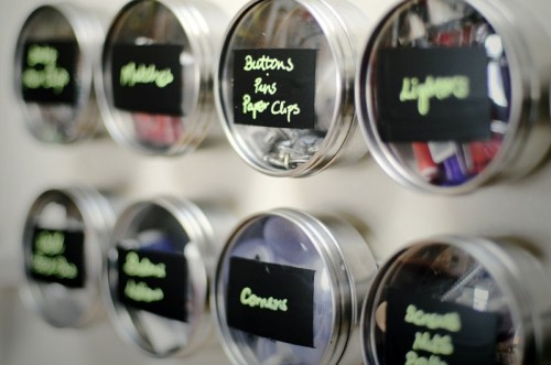 Using Chalkboard Paint To Label Storage