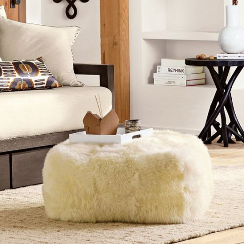 Sheepskin is always a great choice if you want to add some coziness to some room.