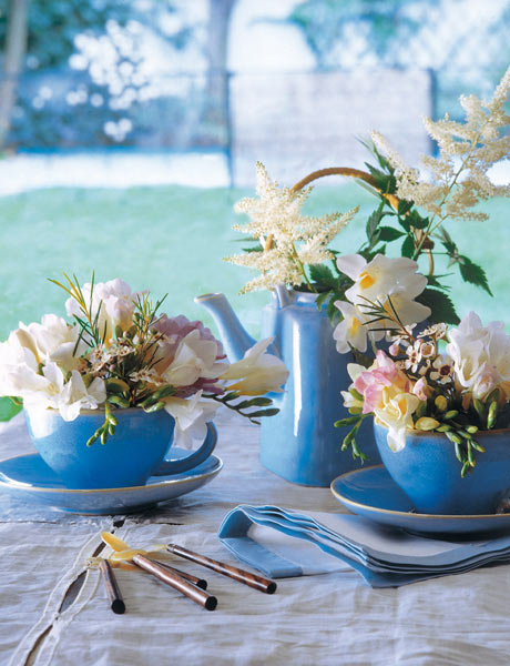 Using Tableware As Planters And Vases