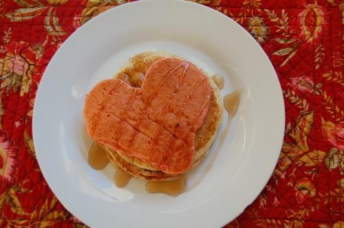 DIY heart-shaped pancakes