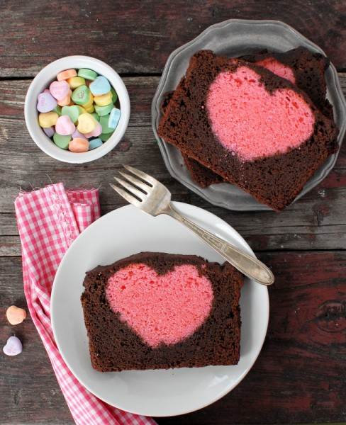 DIY heart pound cake
